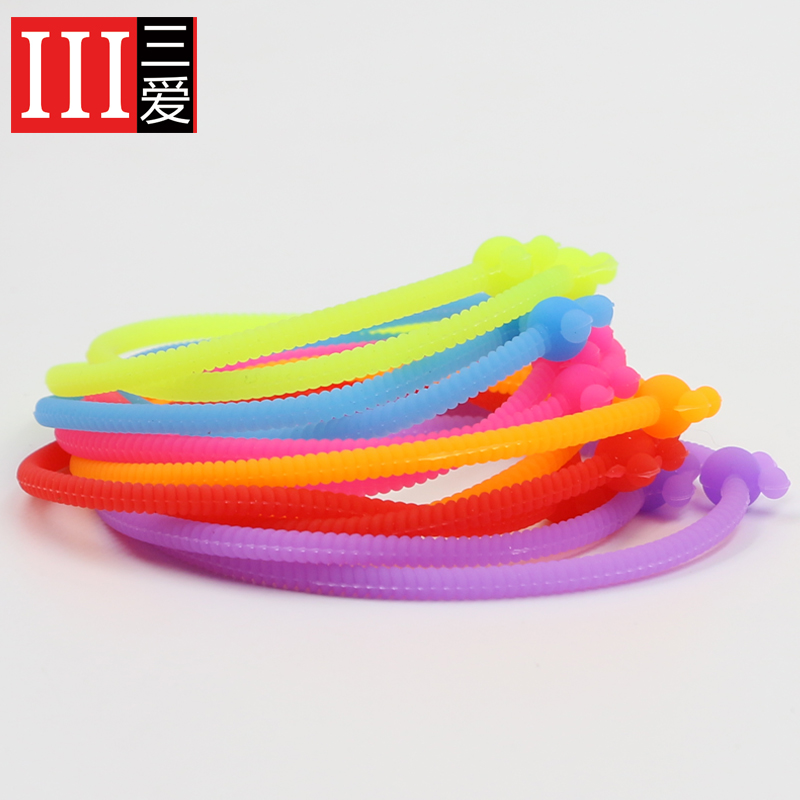 Sanai new korean fashion color diy rubber band bracelet silicone bracelet silicone bracelet rubber band a dozen 12 article