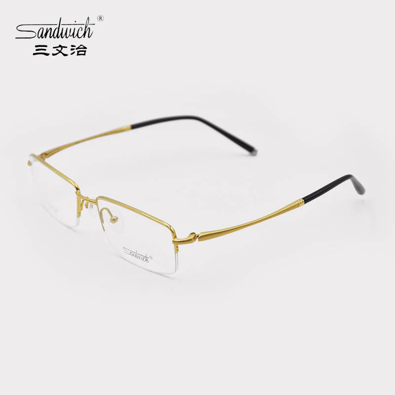 e7dd96806c15 Get Quotations · Sandwich sandwich counter genuine men's titanium rimless  glasses frame myopia frames/s698 half frame glasses