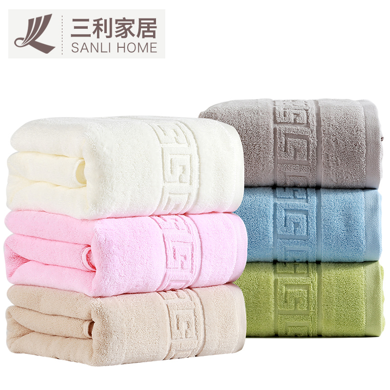 Sanli thick cotton towels to increase adult male ms. couple soft absorbent cotton bath towel infants and children