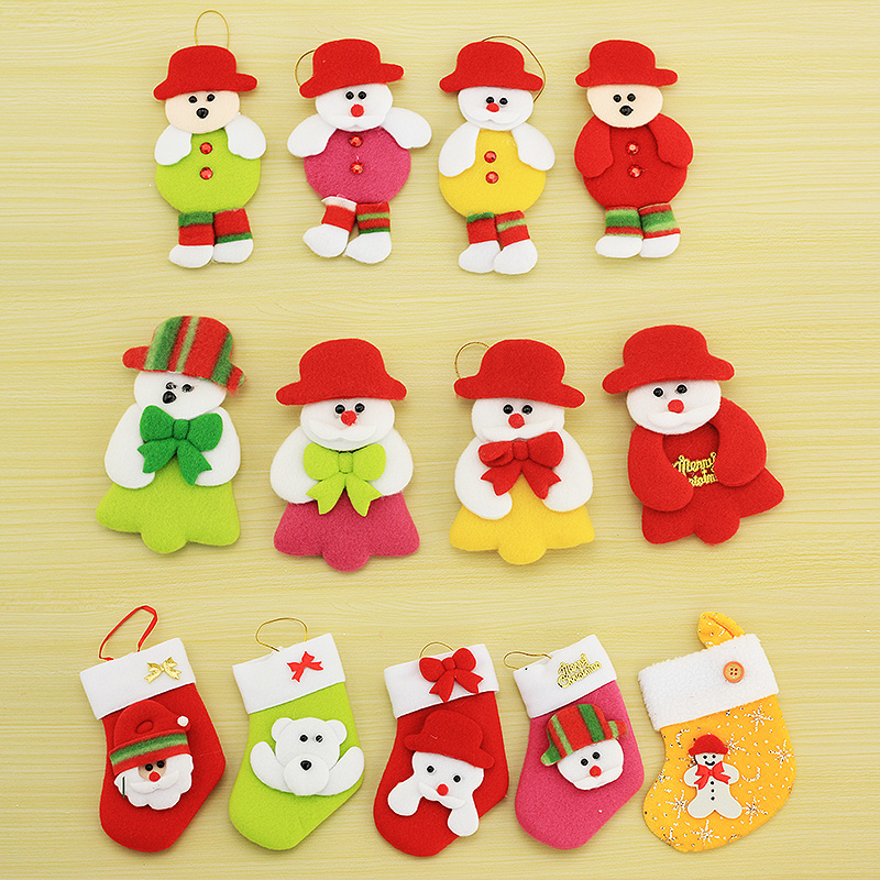 Santa claus christmas supplies christmas tree ornaments snowman doll charm decorative cloth puppet doll christmas gifts