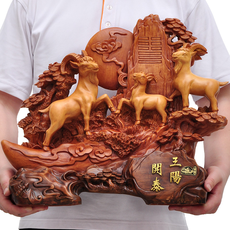 Sanyangkaitai sheep ornaments lucky chinese home decoration living room tv cabinet office opening gifts crafts