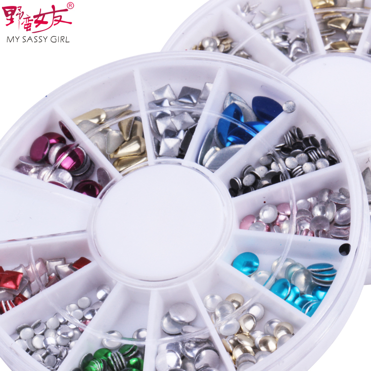 Sassy nail diy jewelry metal rivets series decoration phone beauty nail supplies