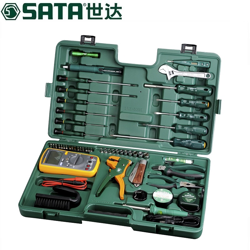 Sata/cedel 53 telecommunications tool set 09535 electronic repair tool set kit tool