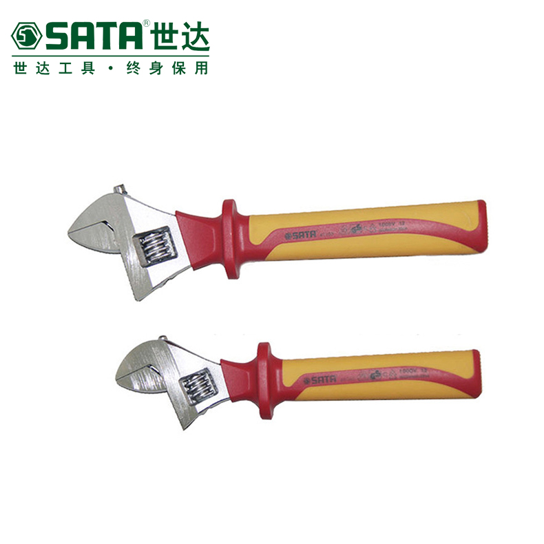 Sata cedel vde insulation voltage electrician adjustable wrench spanner wrench adjustable wrench 6 inch 8 inch 10 inch 12 inch