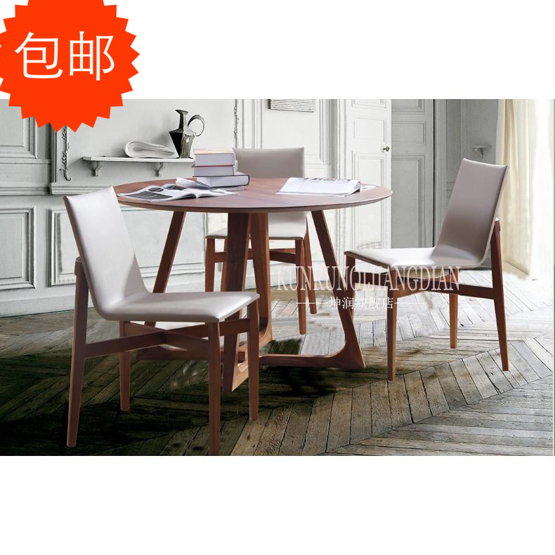 Scandinavian minimalist design solid wood dining tables and north american imports of red oak wood dining table dining table round table dining table free shipping