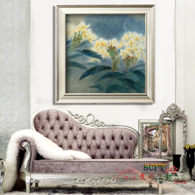 Scfy handmade oil painting modern home impression bedroom entrance mural paintings framed painting the living room decorative flower