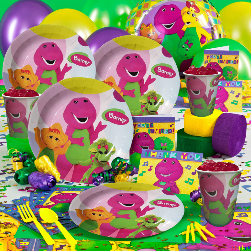 Get Quotations School Children Birthday Party Supplies Dinosaur Barney Theme Series Of Childrens