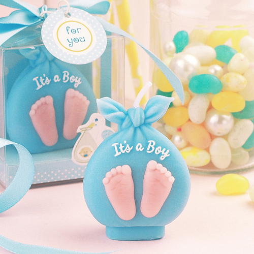 School children children birthday party supplies creative birthday candles candle package footprints baby shoes