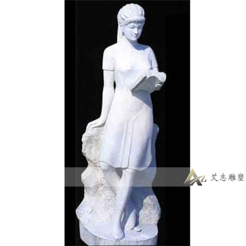 [Sculpture] yizhi white marble stone carving sculpture campus sculpture sculpture figure sculpture xy03