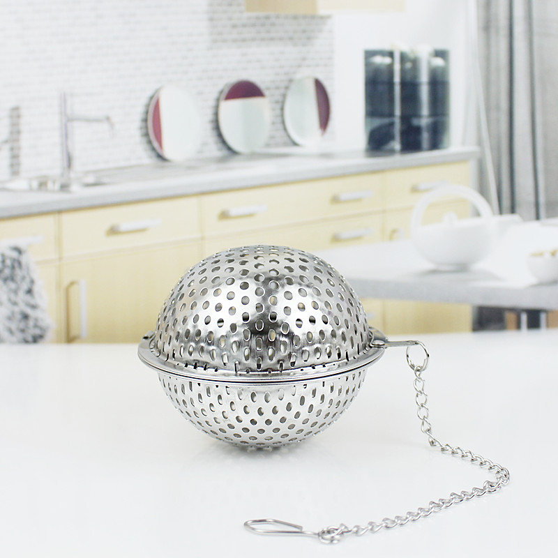 Sd authentic 304 stainless steel ball seasoning spices seasoning box ball tea strainer slipping through the net slumgullion ball