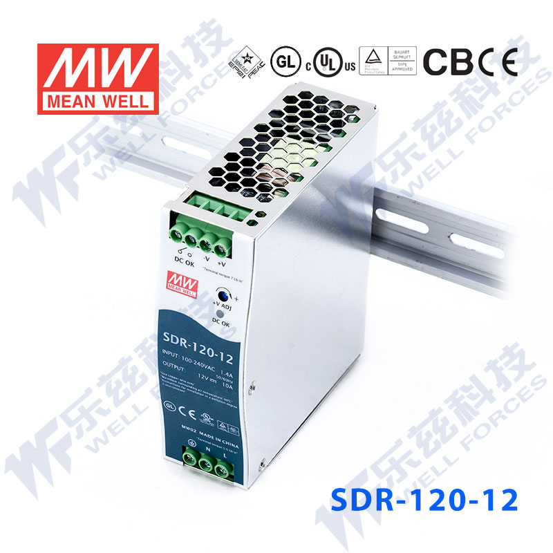 SDR-120-12 slideways ultrathin meanwell pfc power supply 12v10a 120 w [meanwell authorized to tax the sf