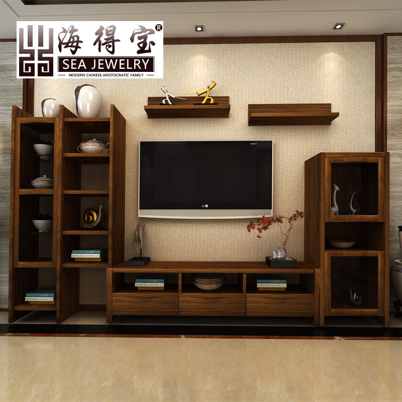 Get Quotations Sea Depot Ugyen Wood Color Floor Cabinet Chinese Tv Solid Frame Multifunction