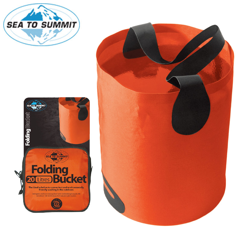 Sea to summit outdoor sports camping multipurpose folding lightweight portable storage bucket filled with water containers
