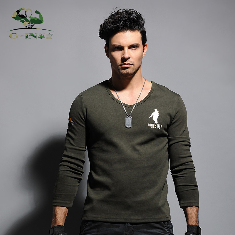 732067b259e Get Quotations · Season words end clearance 79 yuan army green military  style military fans sleeved t-shirt