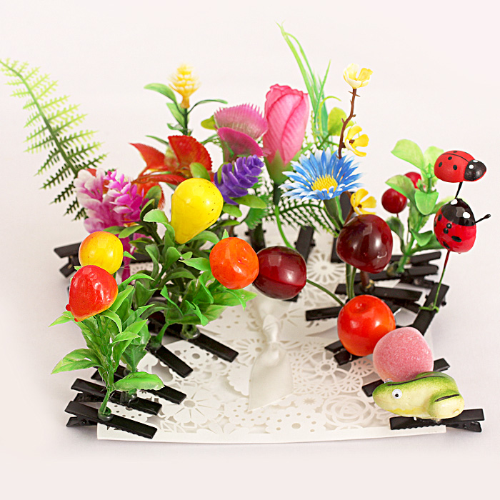 Sell meng artifact fruit sprouting grass plant animal hairpin hairpin head flower hairpin hairpin head herbiferous grass