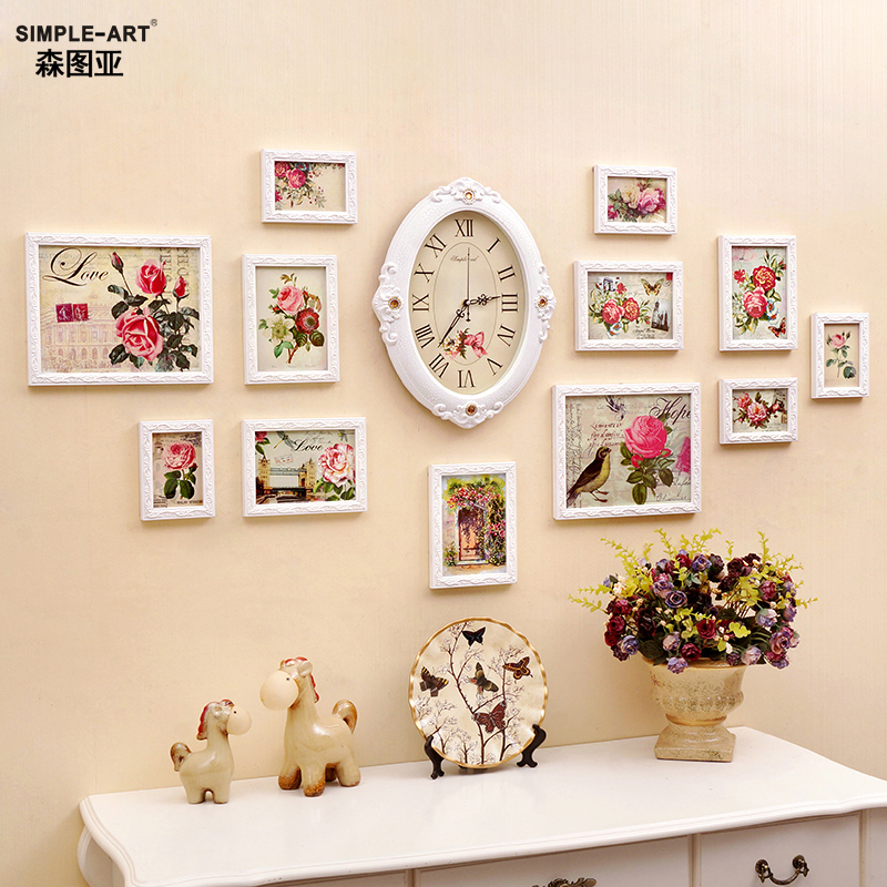 Sen tuya european frame wall photo wall frame living room bedroom wall creative combination photo frame wall 12 box