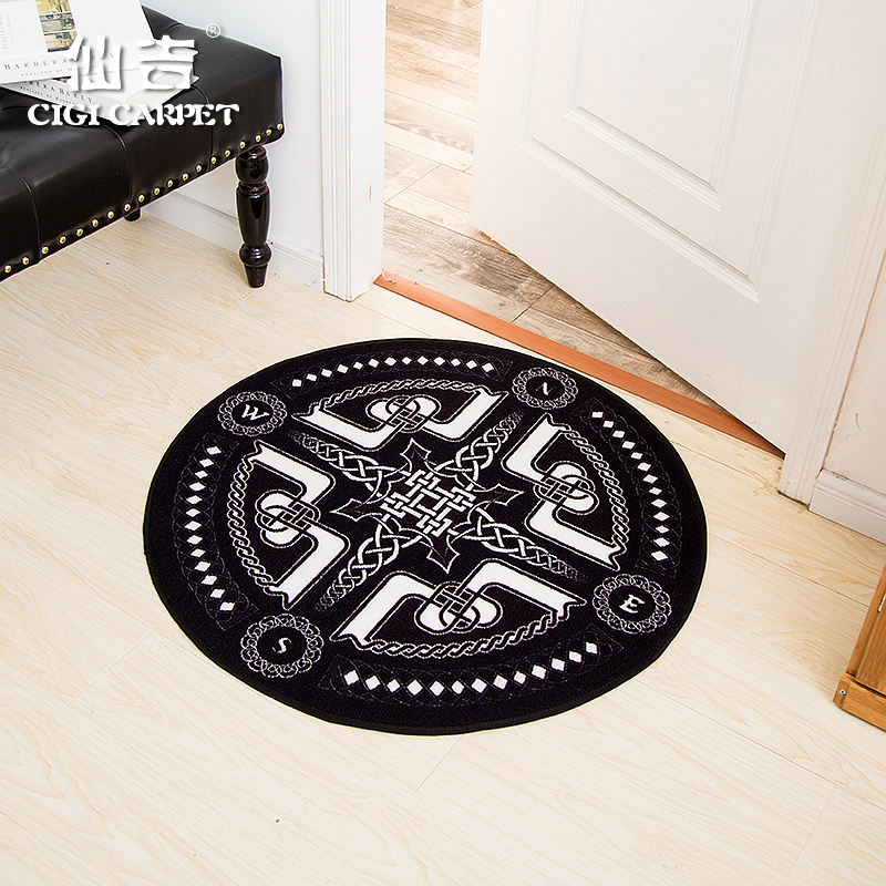 Senkichi geometric fashion european and american minimalist modern foyer living room bedroom floor mats round computer chair mats round