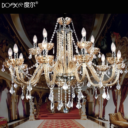 Seoul degree led crystal lamp restaurant lighting fixtures 15 head of european crystal lamps living room lamp bedroom lamp chandelier candle lighting