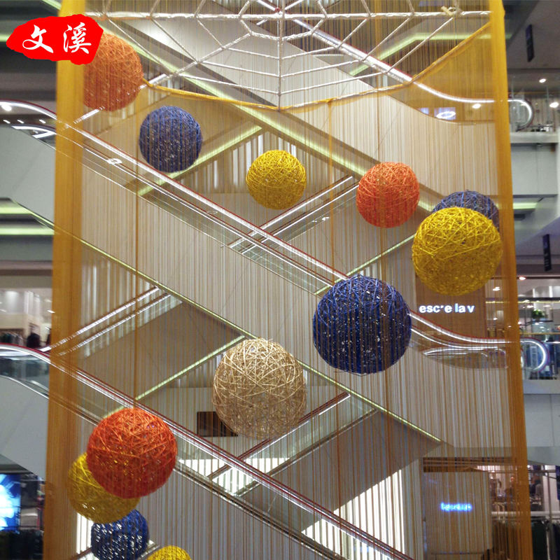 Sepak takraw ball malls decorated nursery school hallway ornaments photography props bar