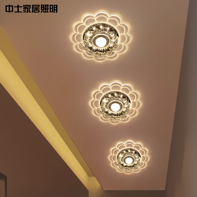 Sergeant crystal light led entrance lights aisle lights entrance hall corridor lights lights lights surface mounted ceiling lights creative