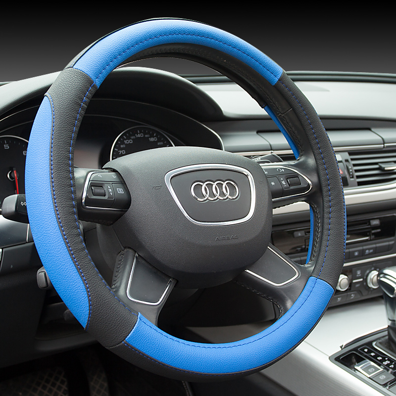 Sew leather steering wheel cover special beijing modern name figure shengda yuet rena i30 resona thalang move