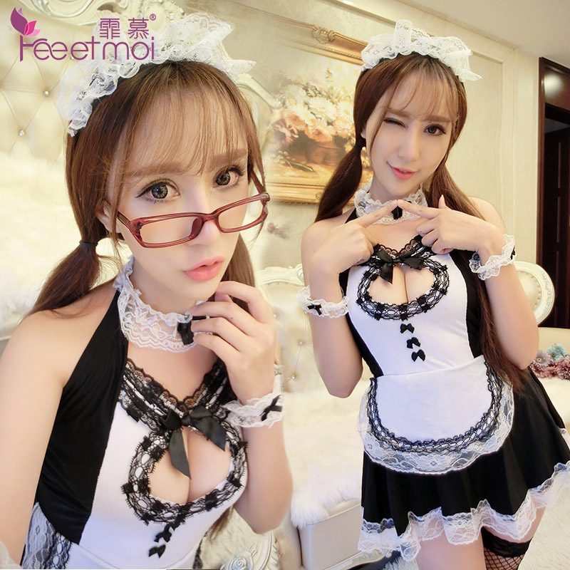 Sexy lingerie sexy temptation suit sao pajamas maid maid outfit role playing uniforms luxiong cr