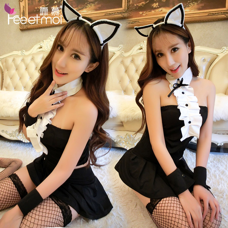 Sexy lingerie suit female sao sack cute bunny cat girl uniform temptation transparent pajamas 9057