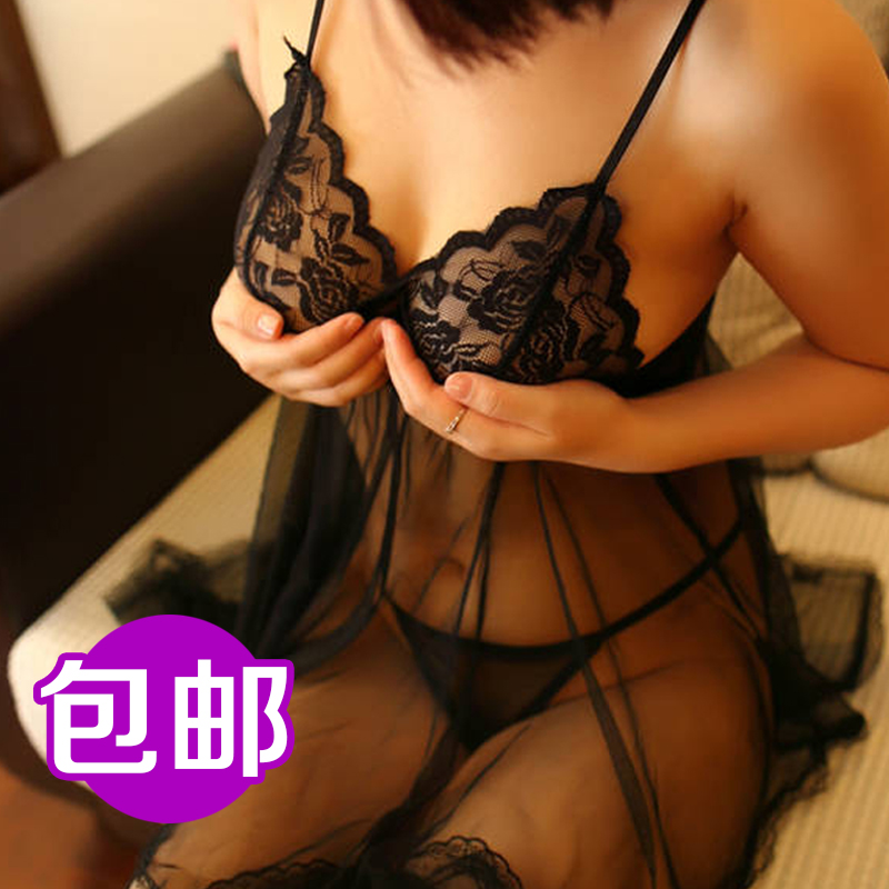 Sexy lingerie transparent suit female sao sack chest a bikini suit female temptation lace system extreme sao sm