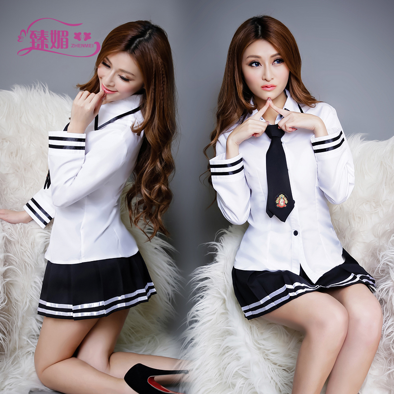 Sexy school uniforms school uniforms temptation role playing suit teen sailor skirt women sexy lingerie show 9419