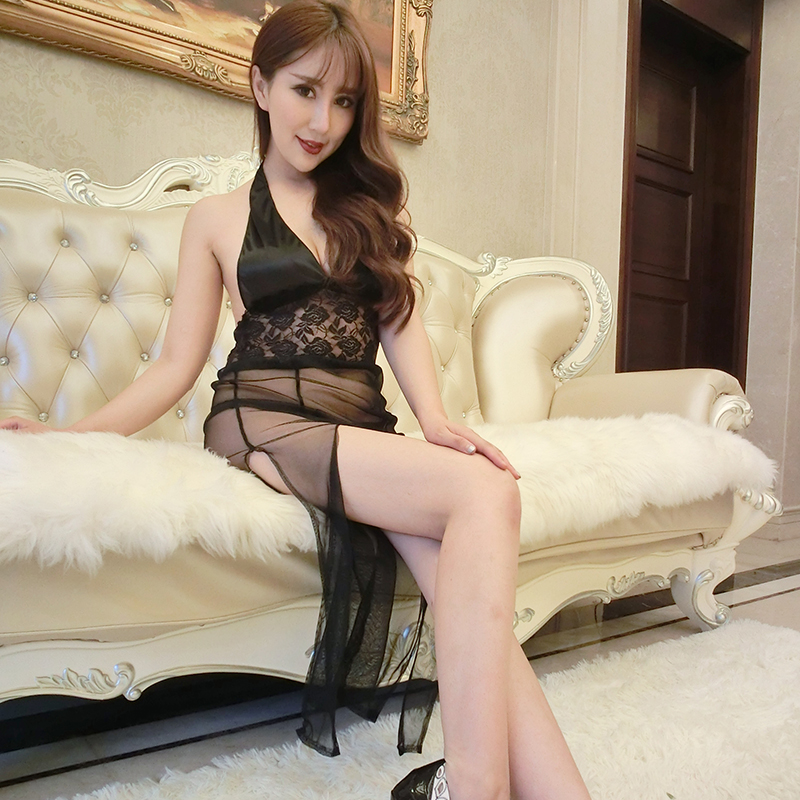 Sexy women sexy lingerie uniform temptation transparent open file chest a passion suit adult sm sao 1321