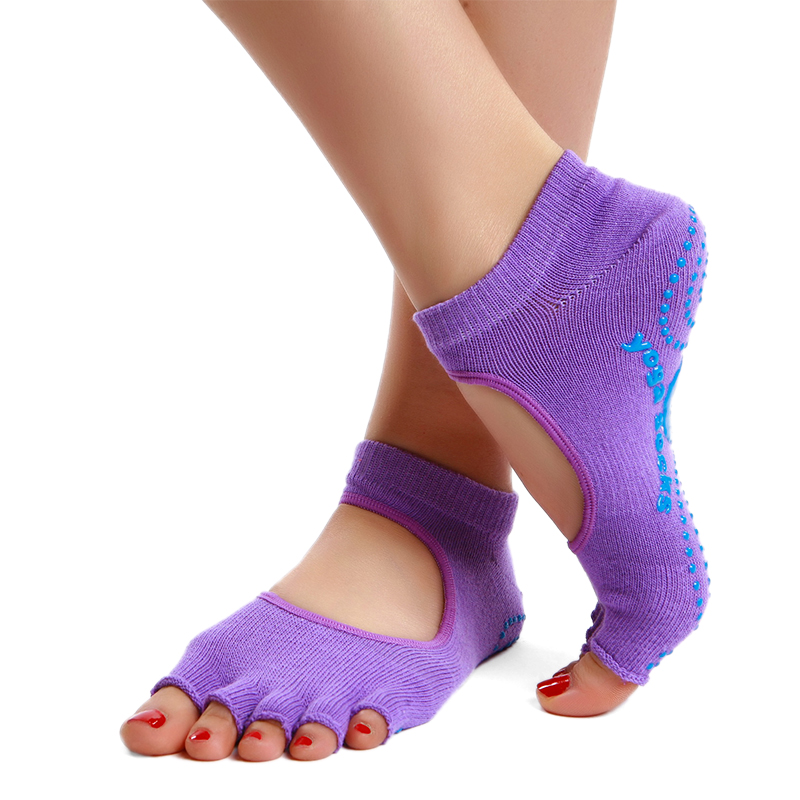 Sha luoer professional deodorizes environmental particles slip yoga socks female cotton toe socks toe comfort specials