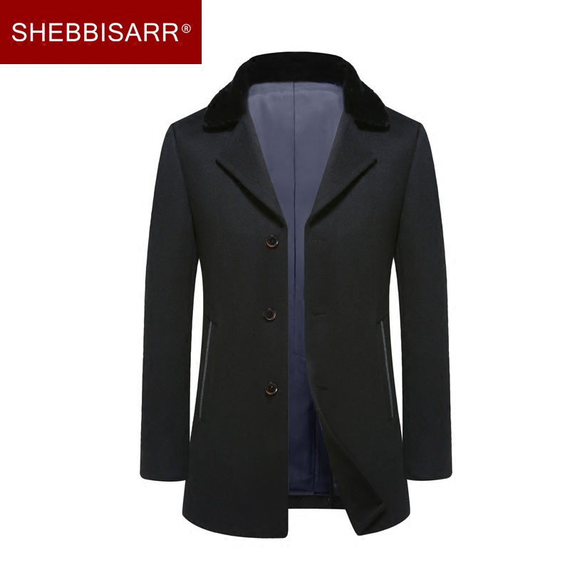Shakespeare poem 2016 new winter suit collar wool coat male middle-aged men's woolen coat male british lun wind