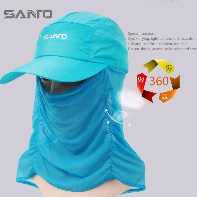 Shan extension outdoor sports breathable wicking uv sun hat sun hat baseball cap hat men and women riding mountaineering fishing