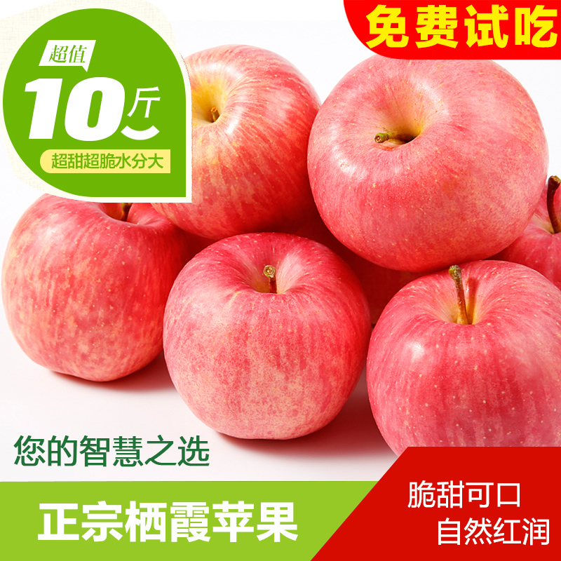 Shandong specialty yantai apple qixia fuji apple 10 of fresh apple fruit candy heart health