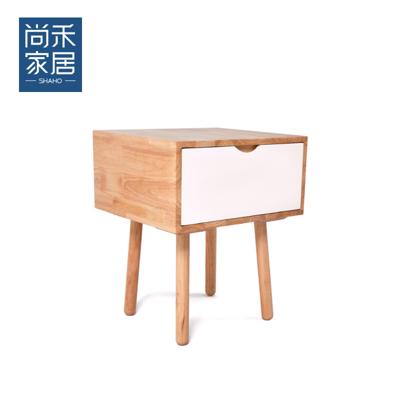 Shang wo nordic small apartment solid wood side a few/small side a few corner a few simple japanese small sideboard creative design models