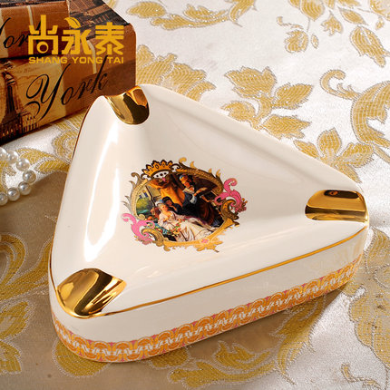 Shang yongtai upscale european ceramic ashtray ashtray home decoration villa model room entrance living room coffee table ornaments