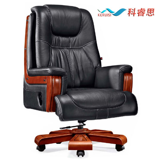 Shanghai branch koch wood assistant genuine leather first layer of leather chair office chair manager chair office chair swivel chair