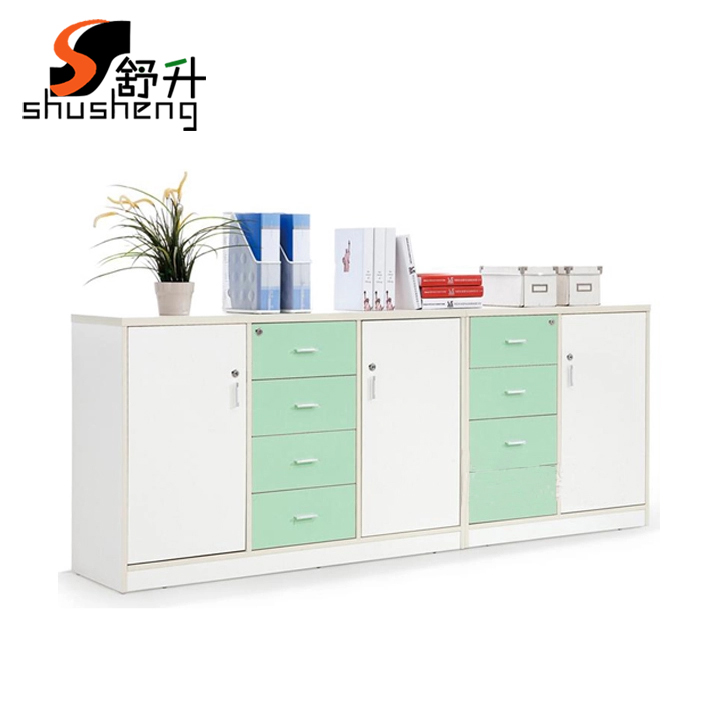 Shanghai office furniture long wooden file cabinet mobile aigui lockable drawer cabinet office filing cabinets