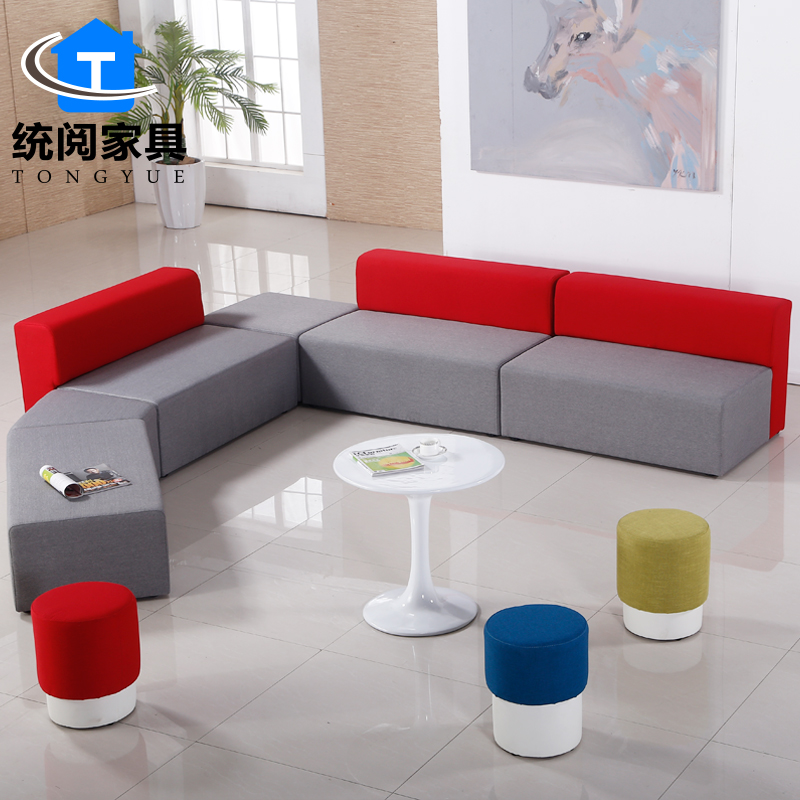 Shanghai office furniture stylish office sofa leisure sofa fabric sofa modern creative shaped sofa