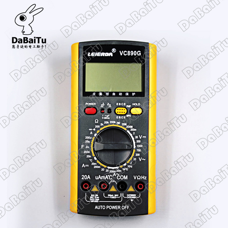 Shanghai sichuan instrument/leier da instrument digital multimeter vc890d/VC890G containing battery meter pen