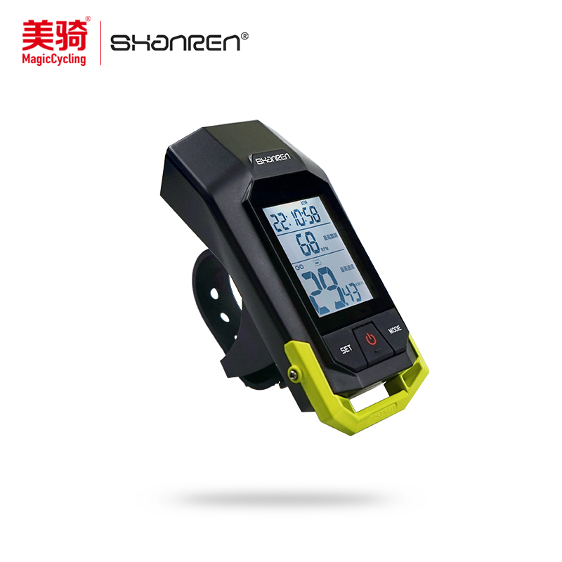 Shanren/hermit cadence bike lights mountain bike mileage stopwatch chinese wireless code headlight waterproof night ride