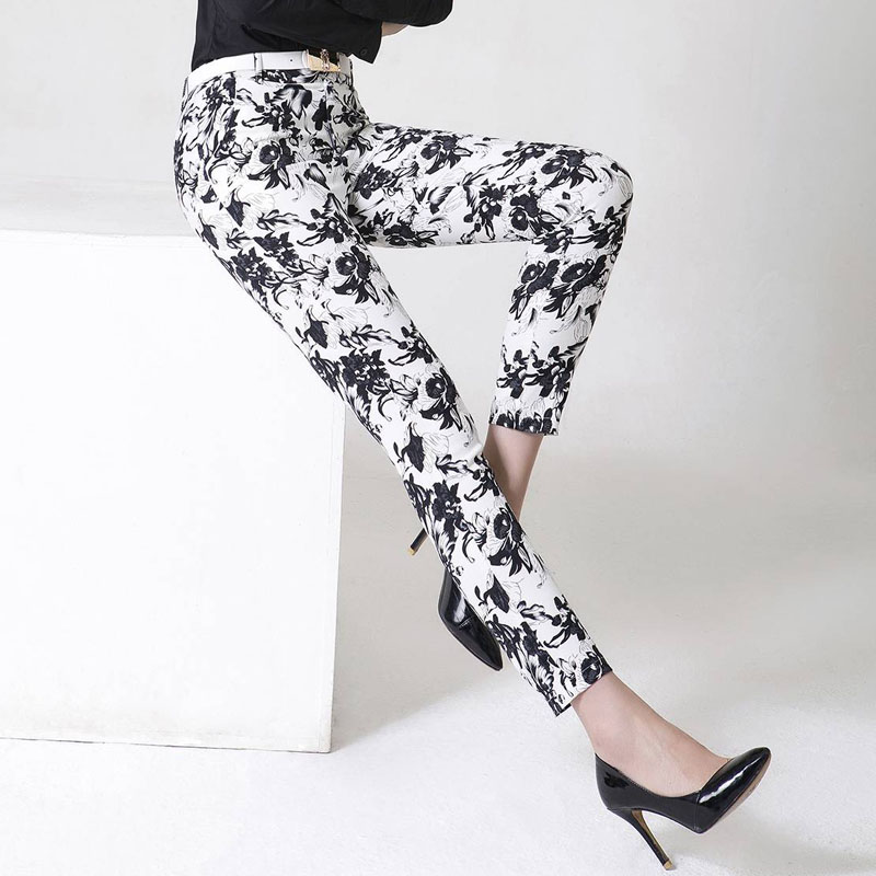 21af68f103 Get Quotations · Shark grazing spring models cotton pants nine points was  thin stretch pencil pants korean version of