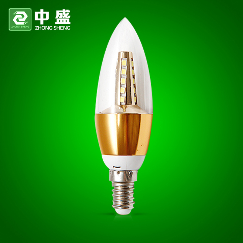 Sheng led candle light bulb e14 pull tail tip bubble crystal lamp chandelier candle lamp small screw 3w5w super bright energy saving lamps