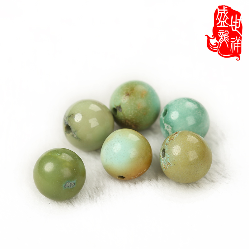 Shengshi xiang hubei turquoise natural ore no optimization ore turquoise beads dubbo with beads yellow rapeseed