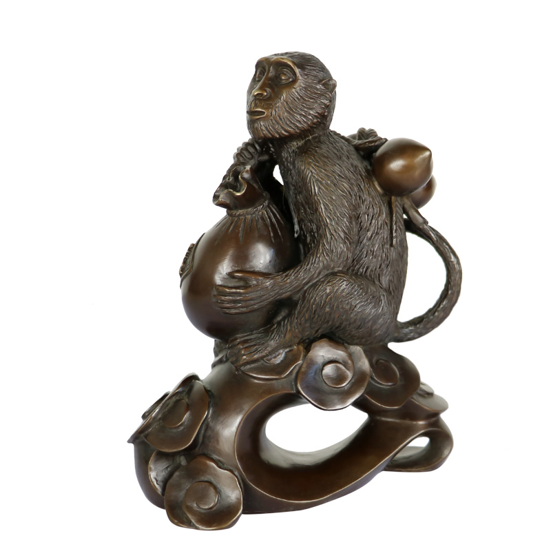 Shi large margin copper wishful offer xiantao fu monkey monkey ornaments zodiac birthday gift crafts home decoration