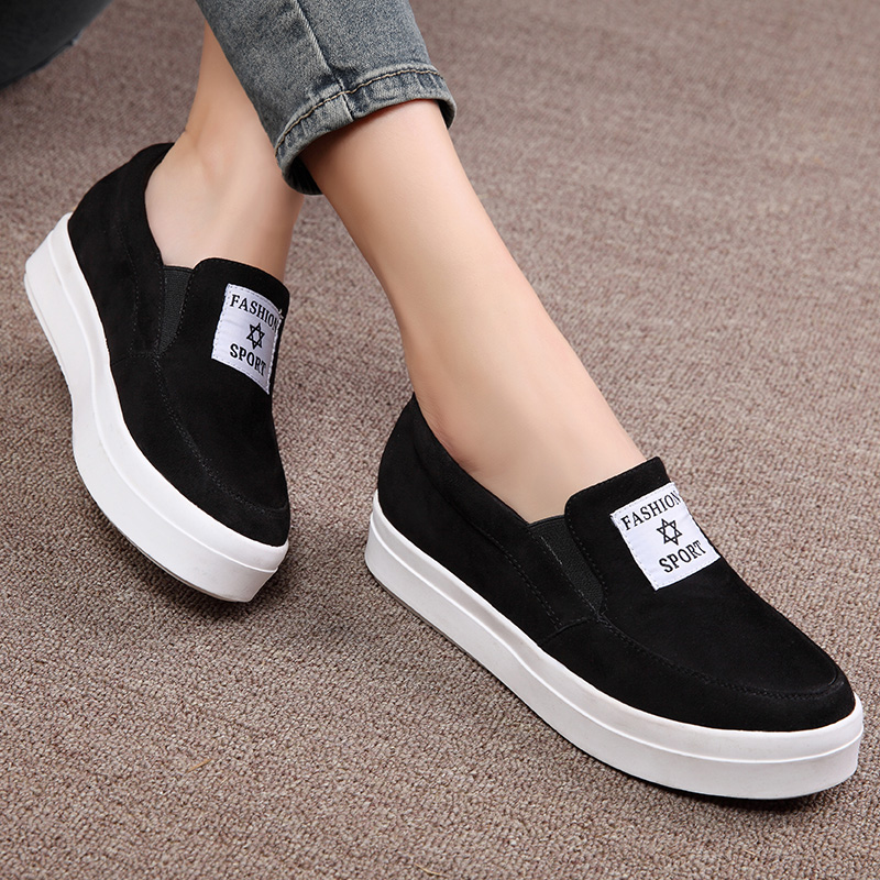 Shield fox 2016 spring and autumn new sports shoes women shoes korean version of casual shoes fashion shoes flat shoes loafers bottomed shoes