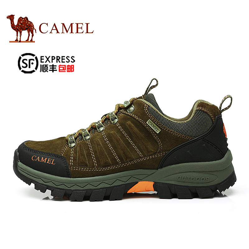 [Shipping] sf camel autumn and winter outdoor climbing shoes men slip resistant outdoor hiking shoes to help low leather
