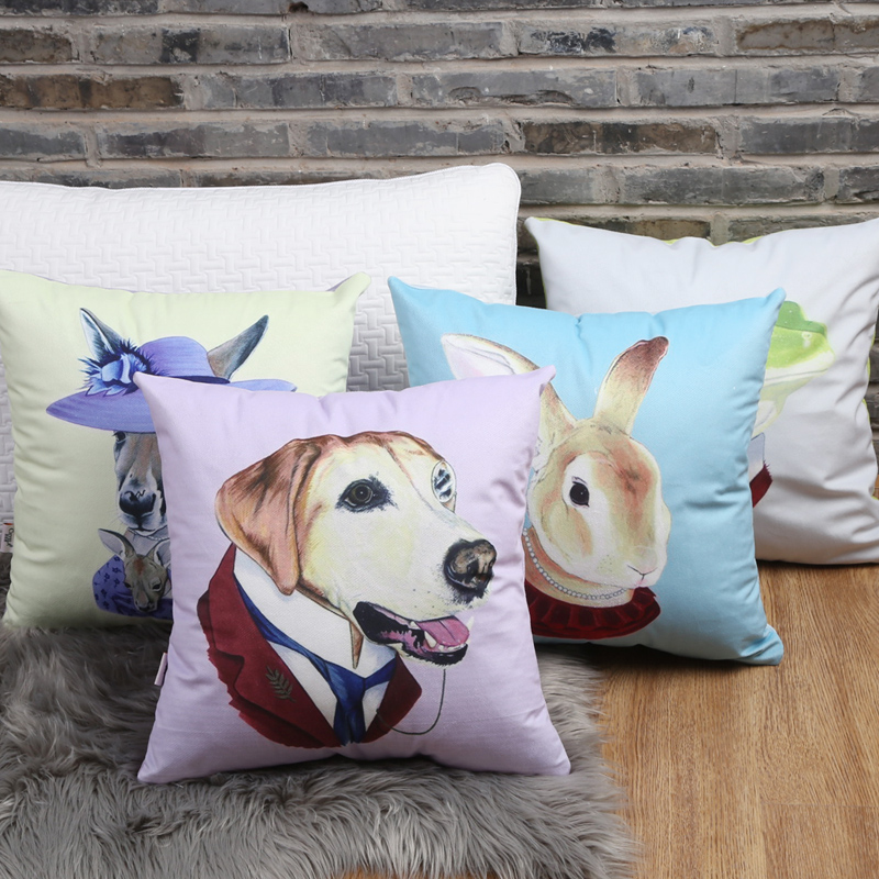 Short plush pet home sofa cushion pillow car pillow office nap pillow cute animal tournure z