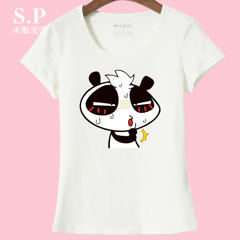Short sleeve t-shirt slim female korean student summer korean version of the white shirt bottoming shirt cartoon t-shirt female summer wild