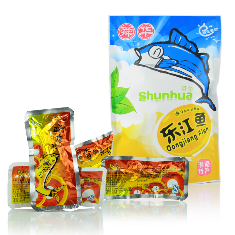 Shun huadong river fish 235g香塘dongjiang hunan specialty fish spicy dried fish fillets zero snack food snack foods